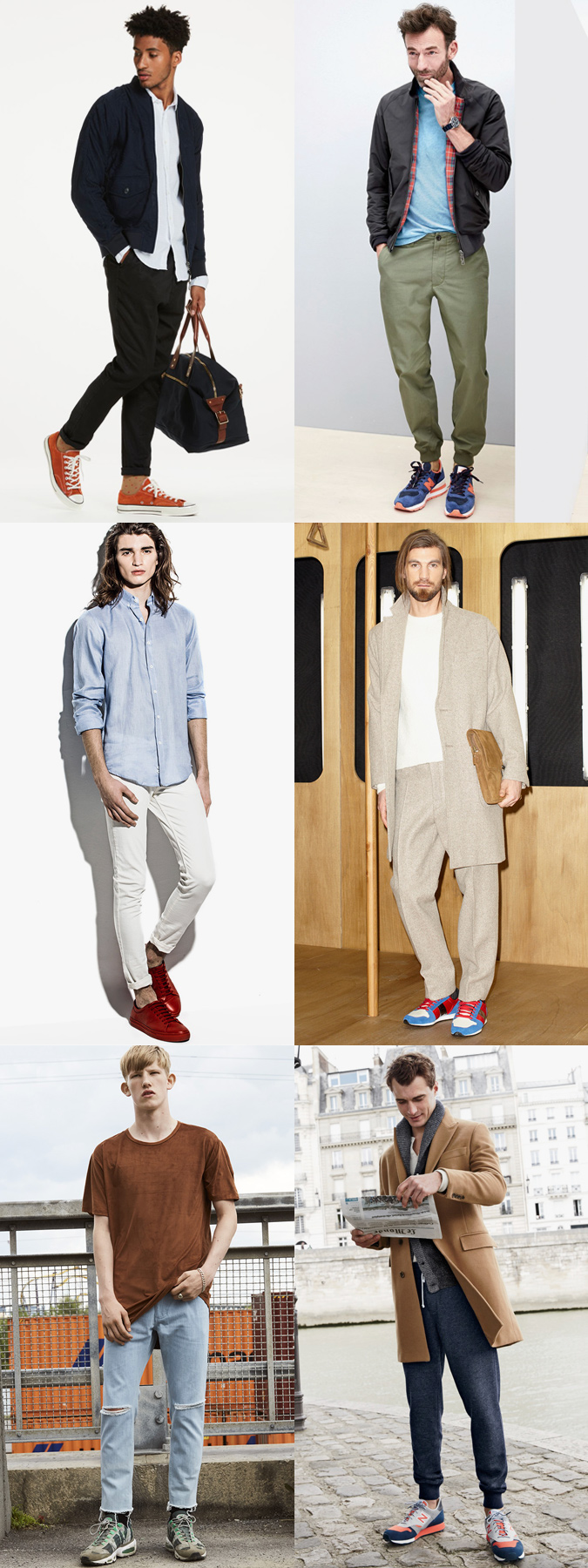 The right trousers and jeans to wear with bold colourful sneakers